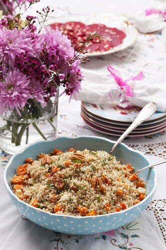 Quinoa salad with sweet potatoes for Passover