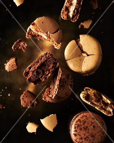 A brown macaroon explosion