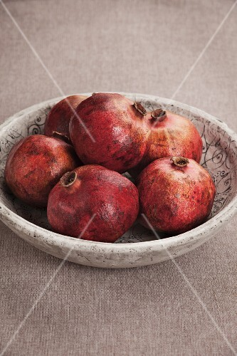 A bowl of pomegranates