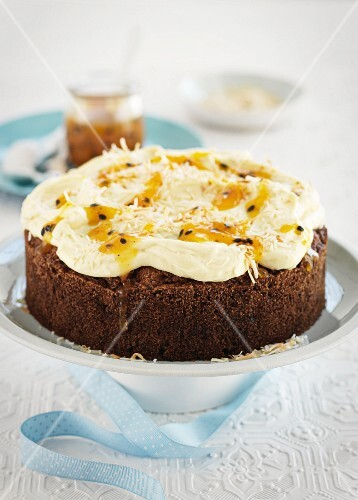 Hummingbird cake with grated coconut