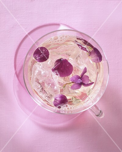 Violet flower punch
