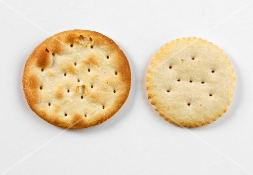 Two savoury cheese biscuits