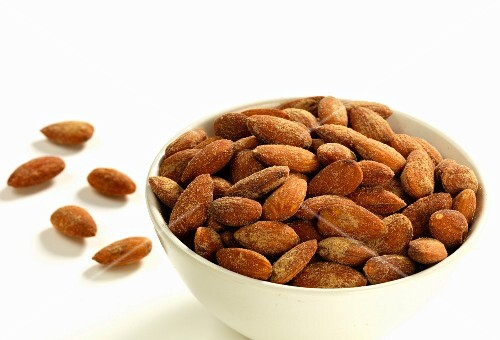 A bowl of sweet roasted almonds