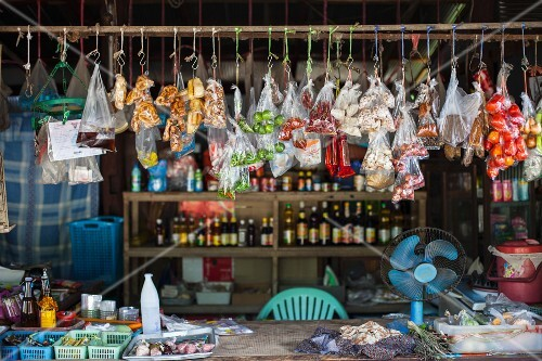 A market stall of food (Asia)