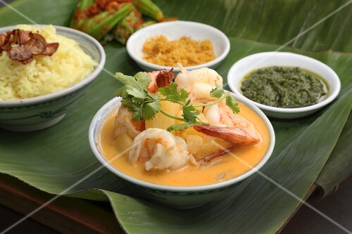 Nyonya cuisine: prawn curry with pineapple (Malaysia)