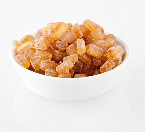A bowl of rock sugar