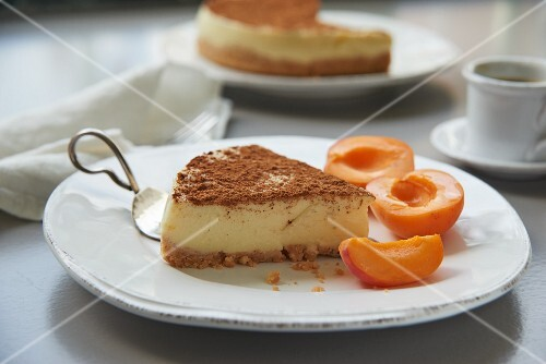 Cape Malay milk tart with apricots from South Africa