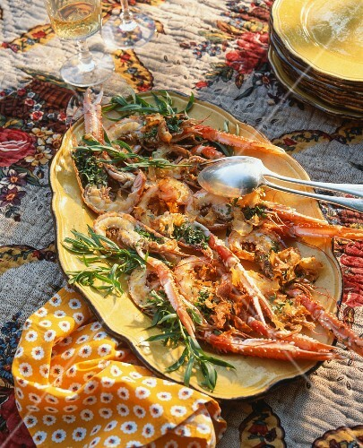 Langoustines with herbs