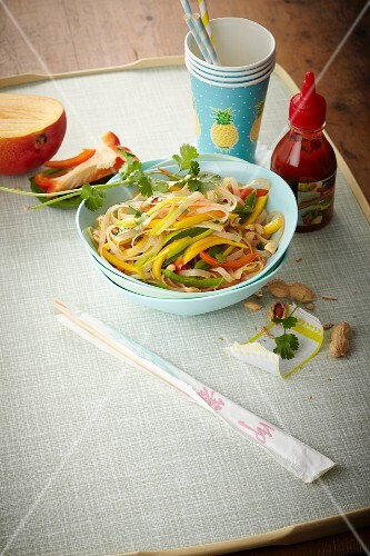 Glass noodle salad with mango and spicy lime dressing