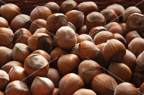 A basket of hazelnuts