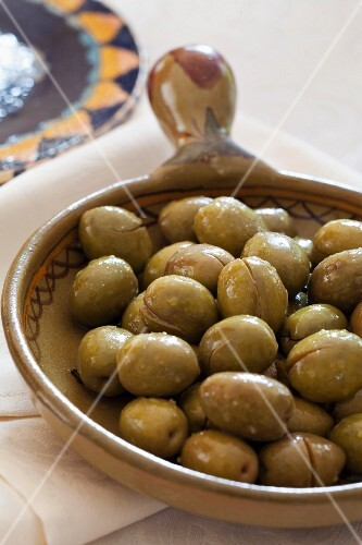 Green olives with sea salt