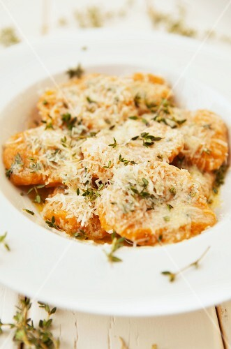 Pumpkin gnocchi with Parmesan and thyme