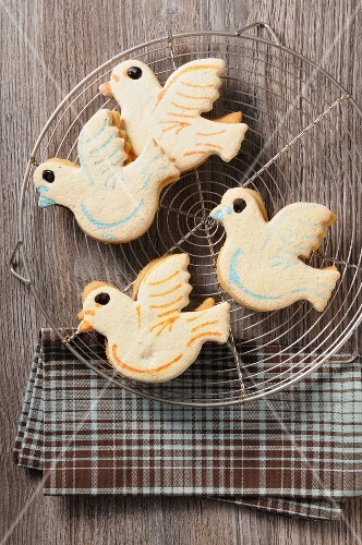 Four Easter dove biscuits