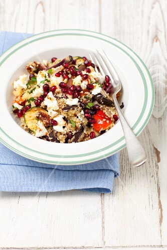Couscous salad with grilled vegetables