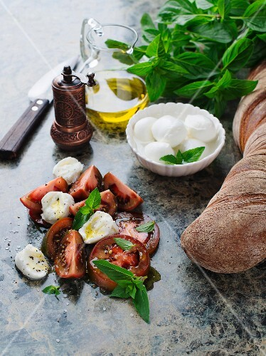 Tomato and buffalo mozzarella salad