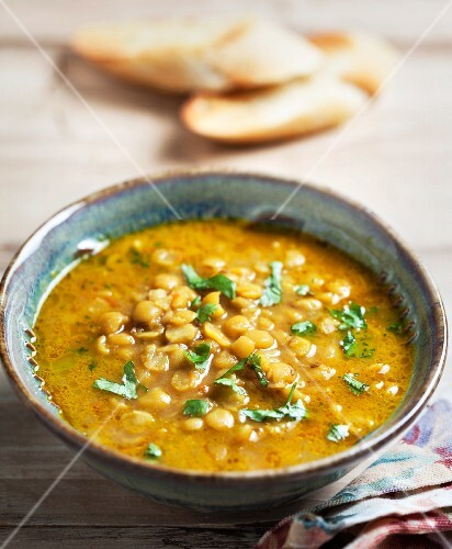 Indian dhal with coriander