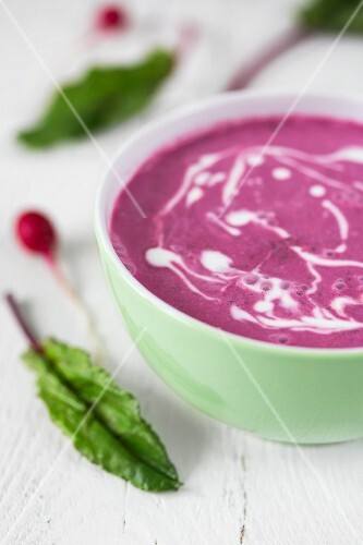 Cold beetroot soup with sour cream