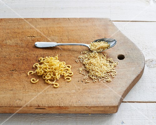 Super pasta on a wooden board