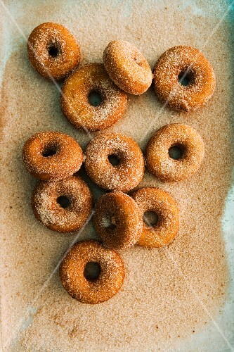 Doughnuts with cinnamon sugar