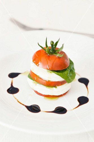 Insalata caprese (Tomato with mozzarella, Italy)