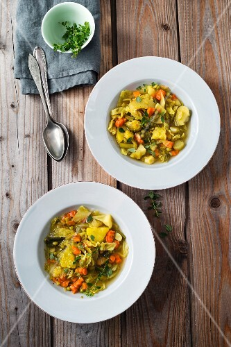 Colourful vegetables stew