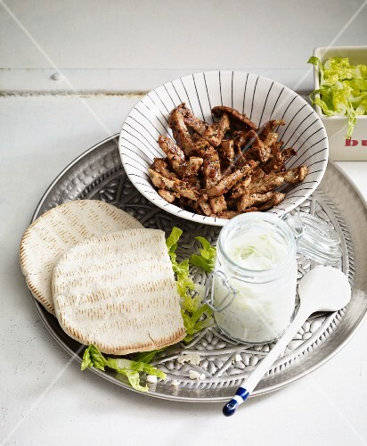 Greek gyros with lime tzatziki