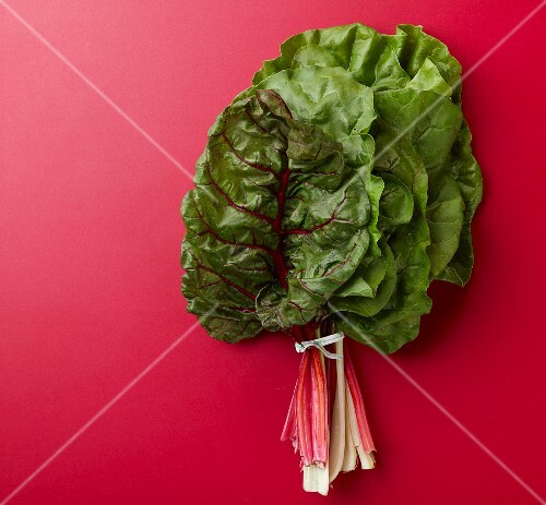 A bundle of chard leaves
