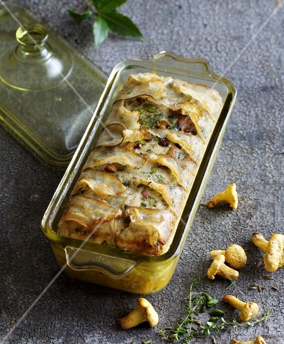 A summer terrine with turkey and veal