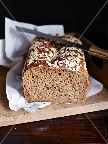 Wholemeal bread, partly sliced