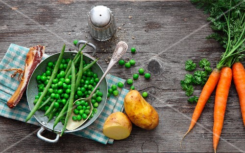 Ingredients for hearty stews