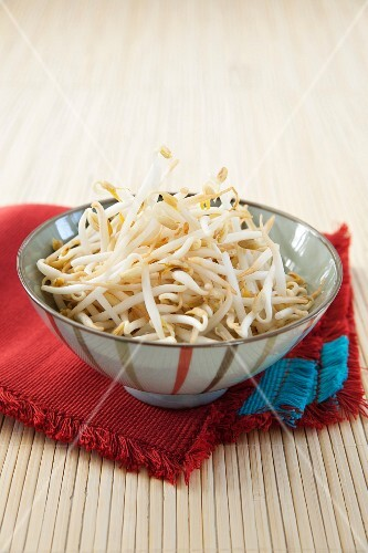 Two small bowls of beansprouts
