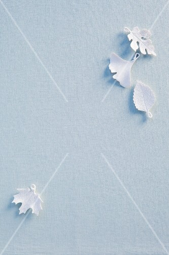 White leaves for Christmas decorations