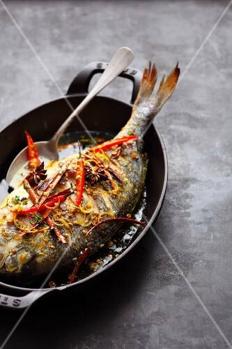 Gilthead seabream with spiced butter