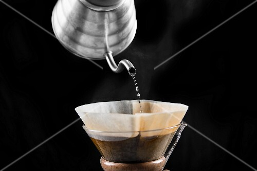Filter coffee being brewed