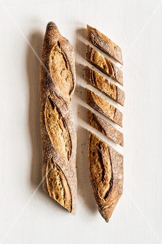 Baguettes, one sliced