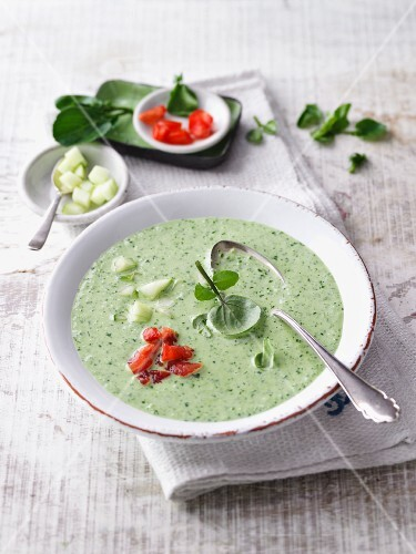 Watercress gazpacho