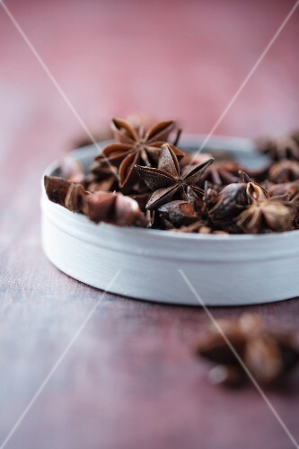 Star anise in a bowl