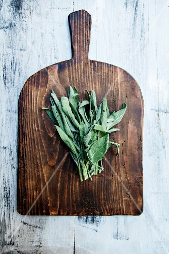 Sage on a wooden board
