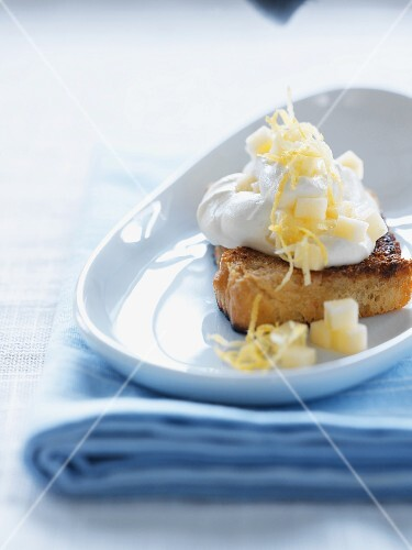 Orange cake with whipped cream