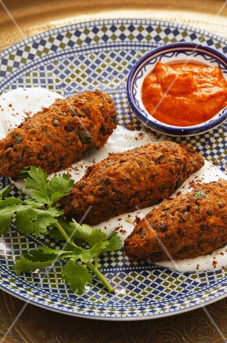 Vegetable kofta with harissa