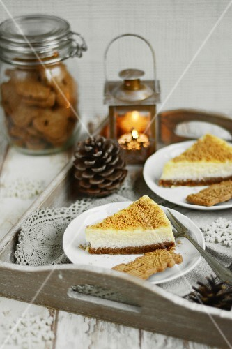 Gingerbread cheesecake for Christmas
