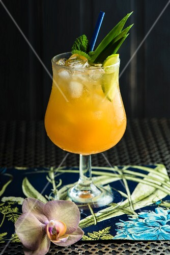 A fruity cocktail made with orange juice