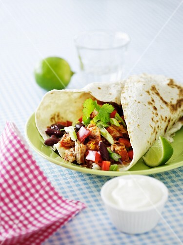 Fajitas with sour cream
