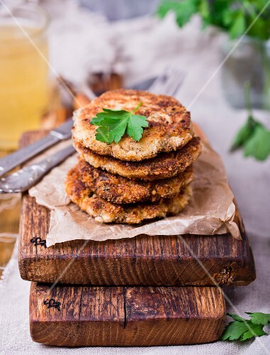 Mackerel and potato fritters