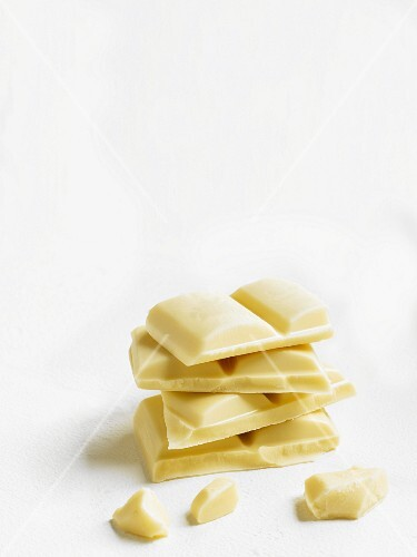 Pieces of white chocolate
