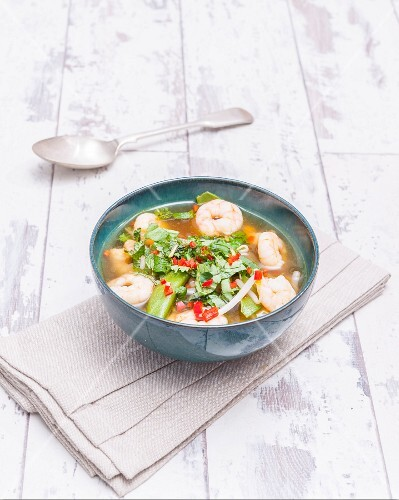 Prawn soup with coriander (Asia)
