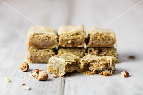 Baklava with hazelnuts