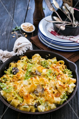 Pasta al forno with winter vegetables and béchamel sauce