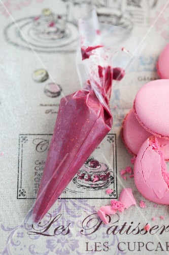 Ingredients for giant raspberry macaroons
