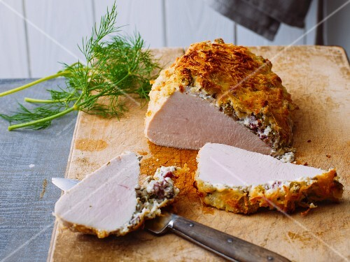 Turkey breast with a Pecorino crust